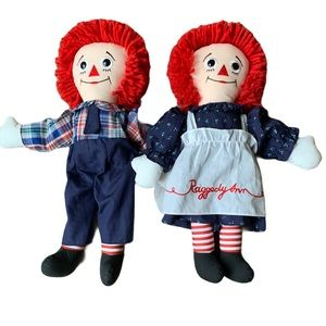 Vintage Applause Raggedy Ann & Andy Stuffed Dolls